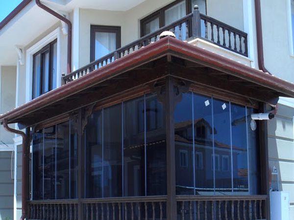 siyah cam balkon